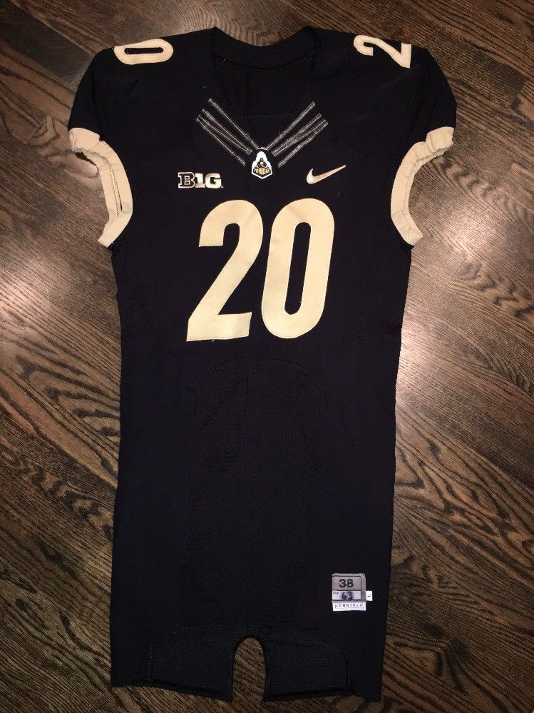9bbb2bd5 Game Worn Purdue Boilermakers Football Jersey Used Nike # Size 38