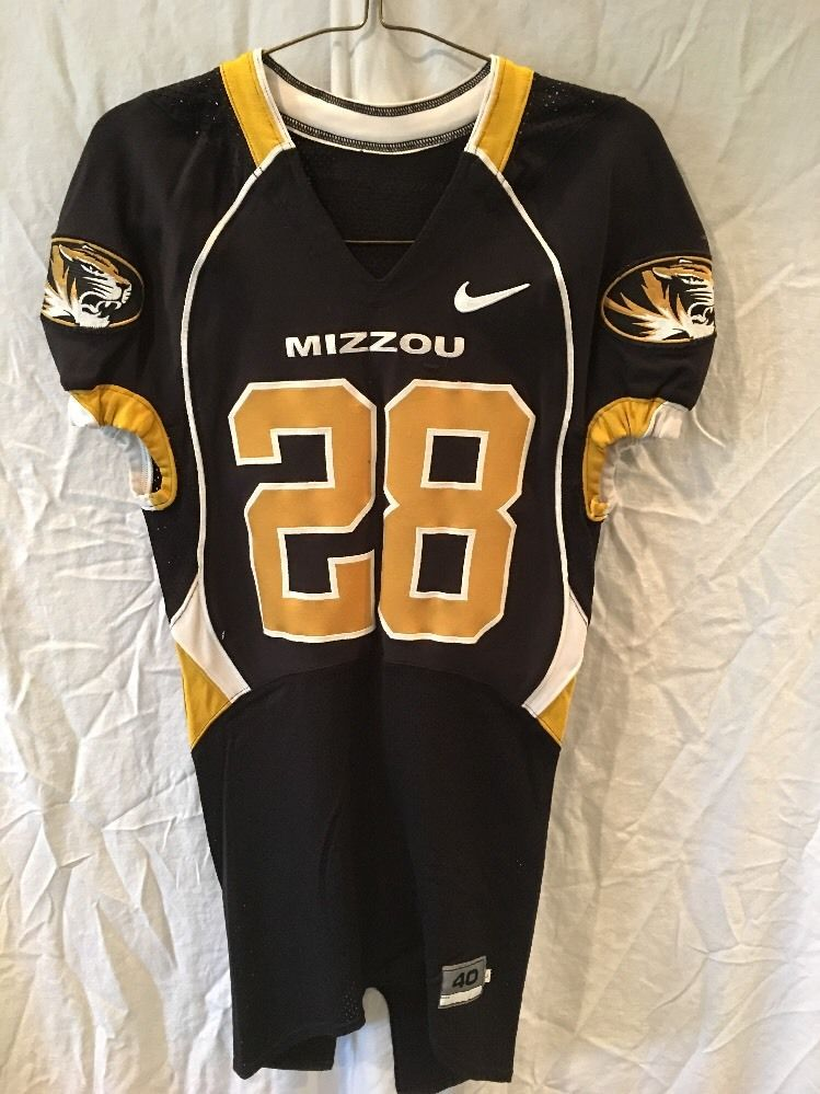 62a82072be2 Game Worn Used Missouri Tigers Mizzou Football Jersey #28 Size 40 PONDER
