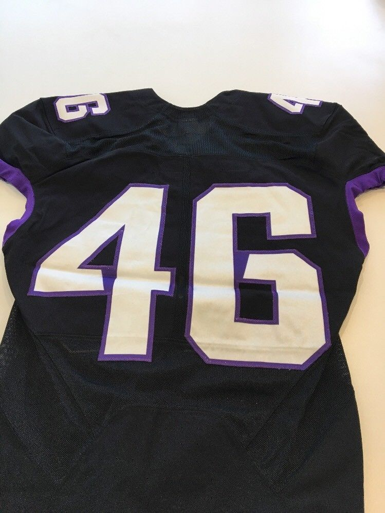 Game Worn Used Nike TCU Horned Frogs Football Jersey  46 Size M ... e2df0cc77