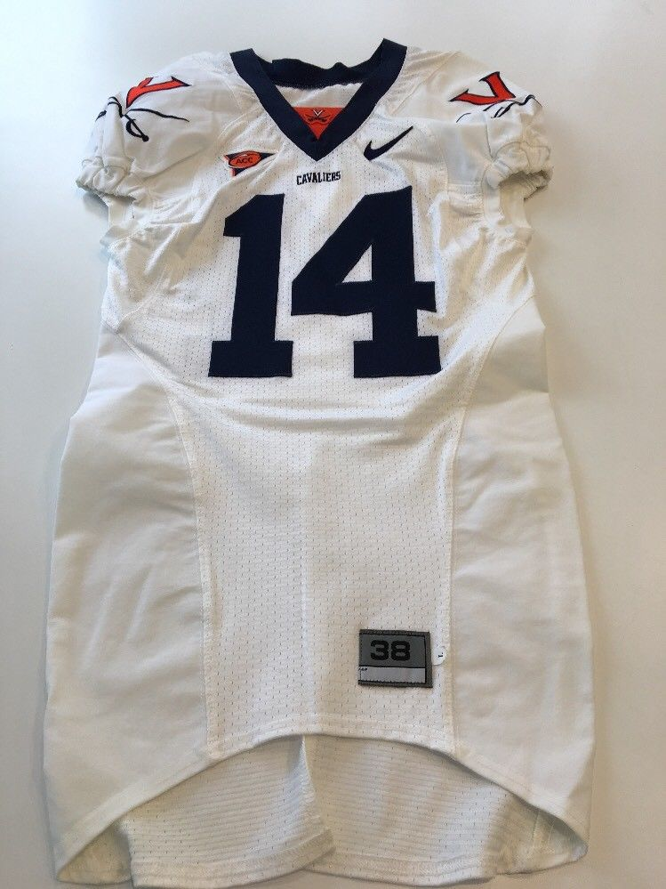 6808f8f51 Game Worn Used Virginia UVA Cavaliers Cavs Football Jersey Nike Size ...