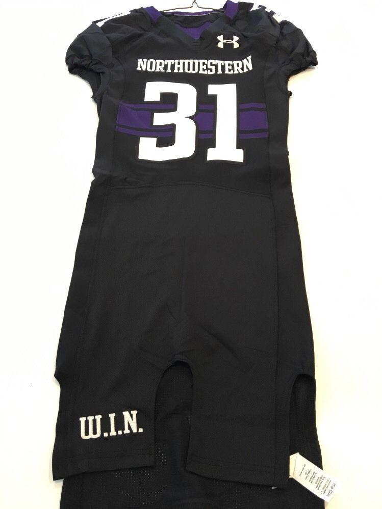 Game Worn Used Northwestern Wildcats Football Jersey  31 Size 36 ... 7ad4daeb7
