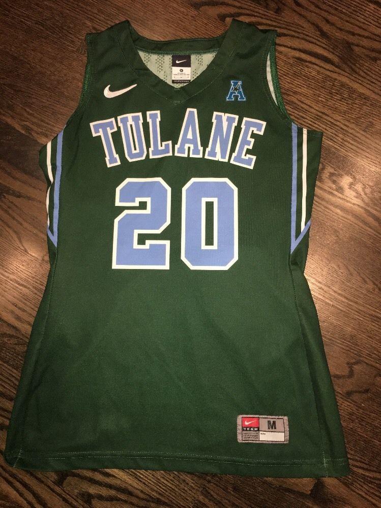 da8cd2f76 Game Worn Tulane Green Wave Basketball Jersey Used Nike Womens   Size M