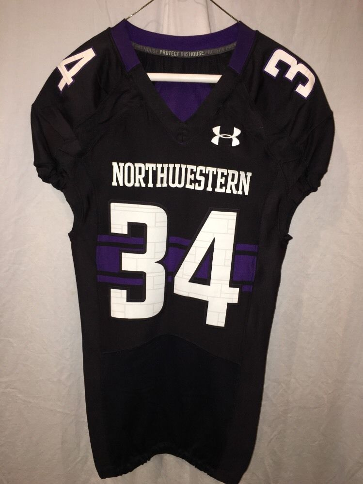 best sneakers e4e35 aad69 Game Worn Northwestern Wildcats Football Jersey Used Under Armour #34 Size  40