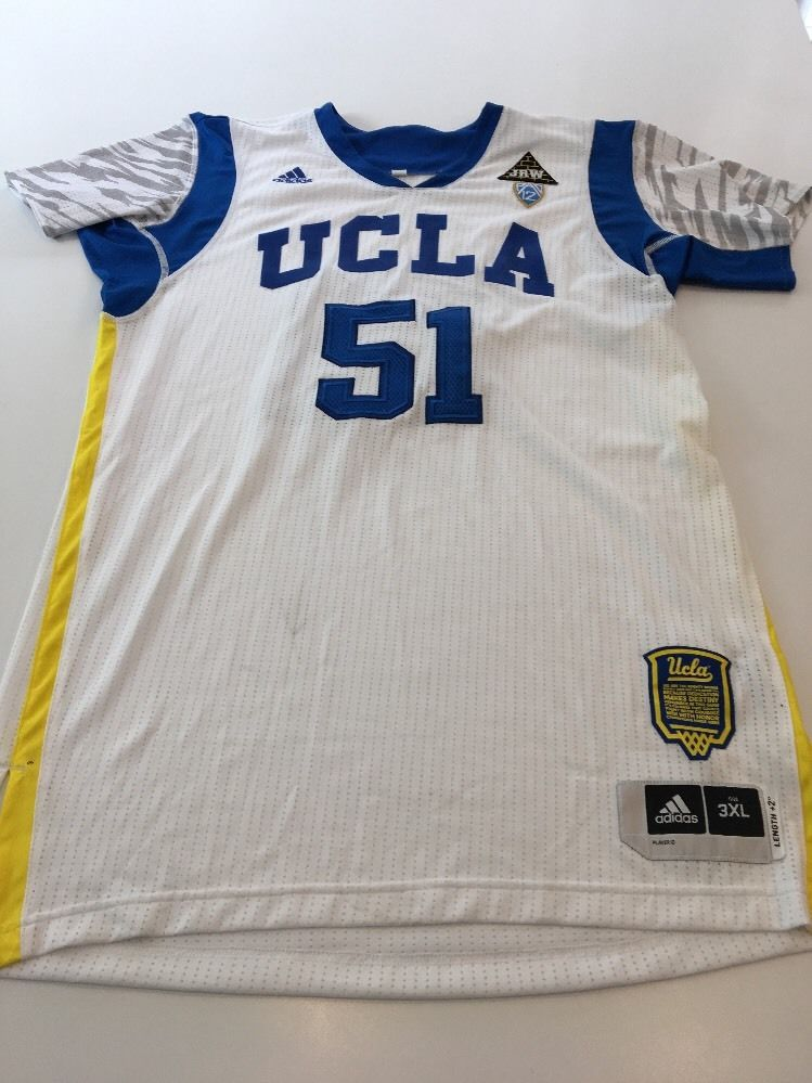 newest collection a42c7 2499f Game Worn Used adidas UCLA Bruins Basketball Jersey #51 3XL Wooden Patch