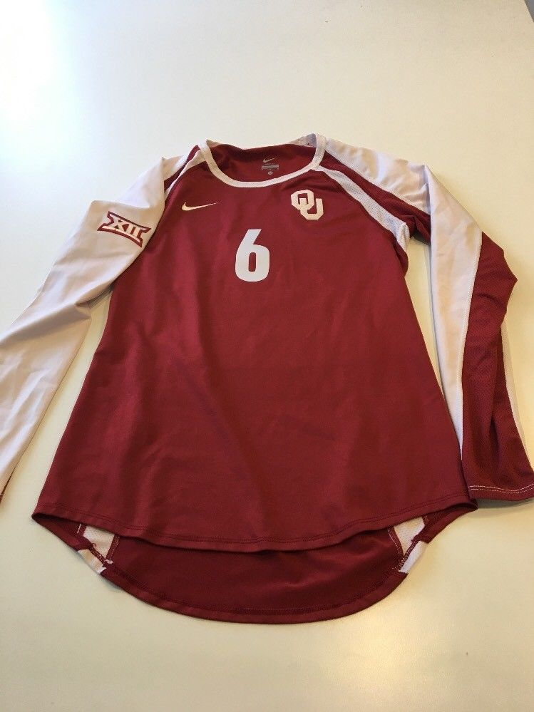 e2f75ba01 Game Worn Used Oklahoma Sooners OU Nike Volleyball Jersey Dri Fit ...