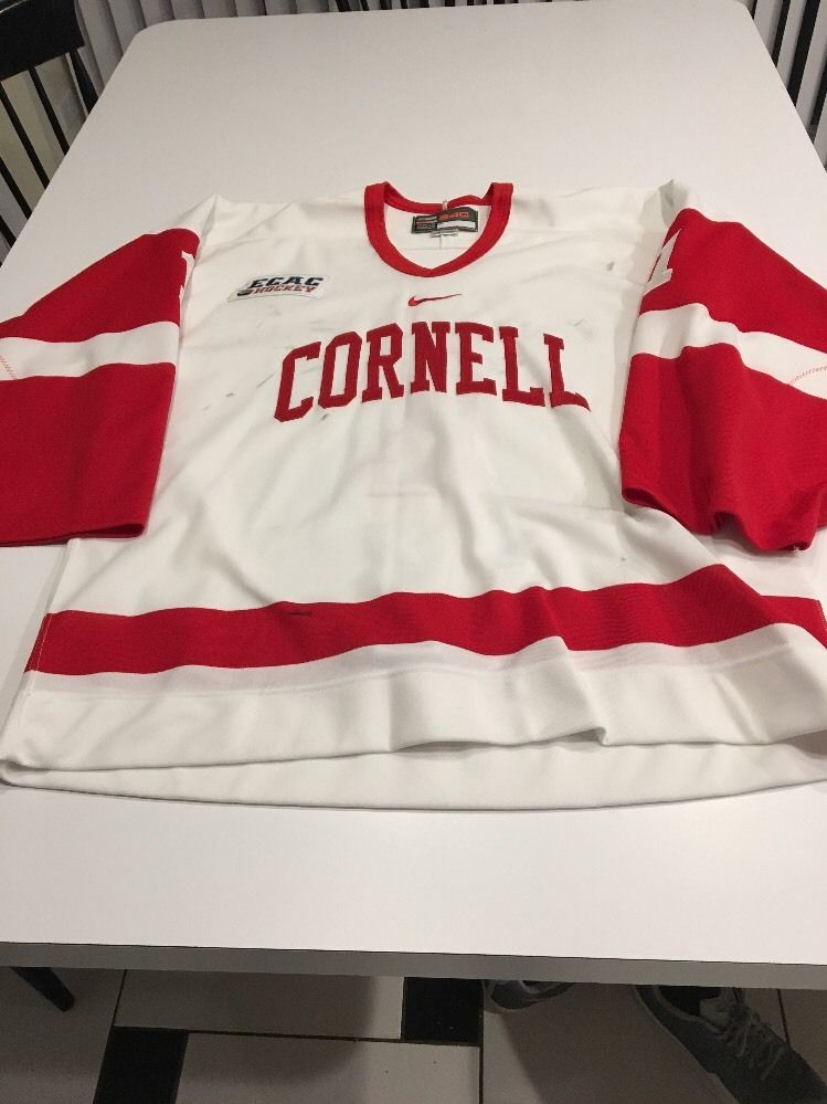 the best attitude 9c6e2 dc562 Game Worn Used Cornell Big Red Hockey Jersey Nike Bauer #1 Size 54G