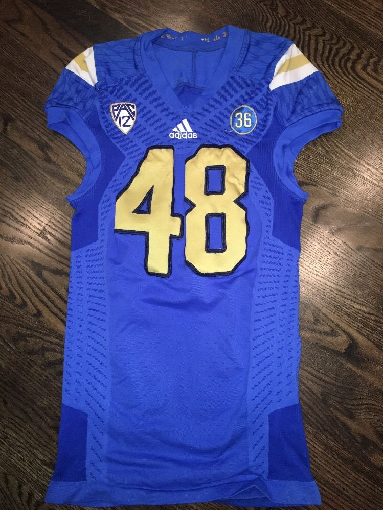 factory price 83c70 b300d Game Worn UCLA Bruins Football Jersey Used adidas #48 Size XL