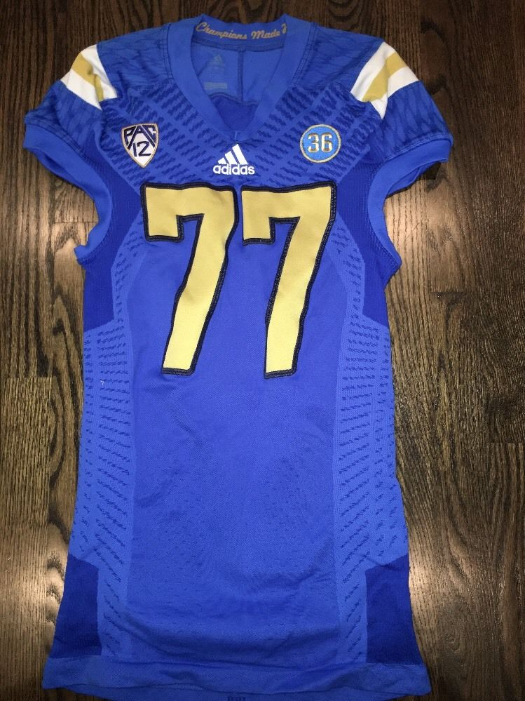 sale retailer d2a29 99cf0 Game Worn UCLA Bruins Football Jersey Used adidas #77 Size XL
