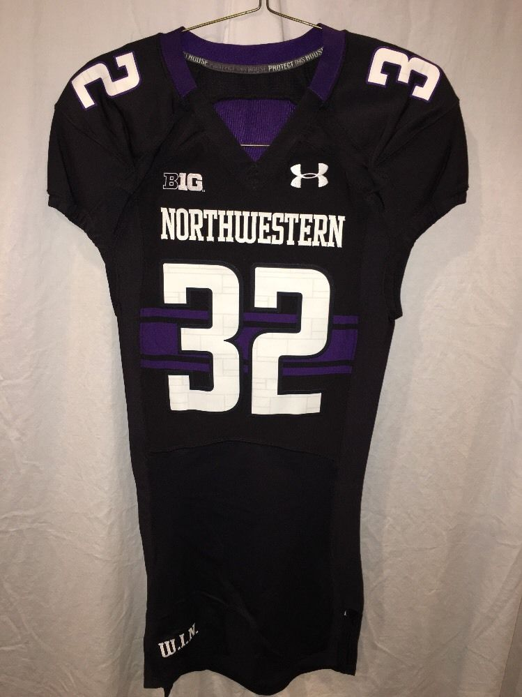 e592a0bc489 Game Worn Northwestern Wildcats Football Jersey Used Under Armour ...