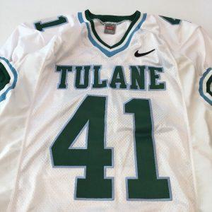 33bbf8c98 Game Worn Used Nike Tulane Green Wave Football Jersey  41 Size L ...