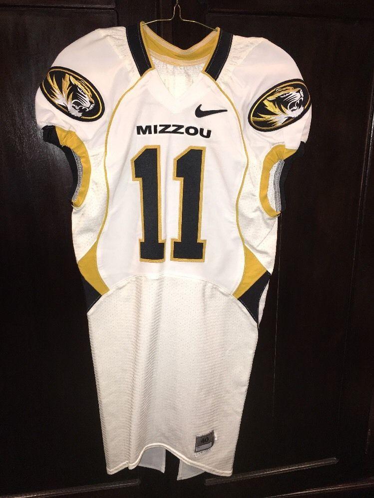 free shipping 05bbd 14a03 Game Worn Used Missouri Tigers Mizzou Football Jersey #11 Size 40 SIMON