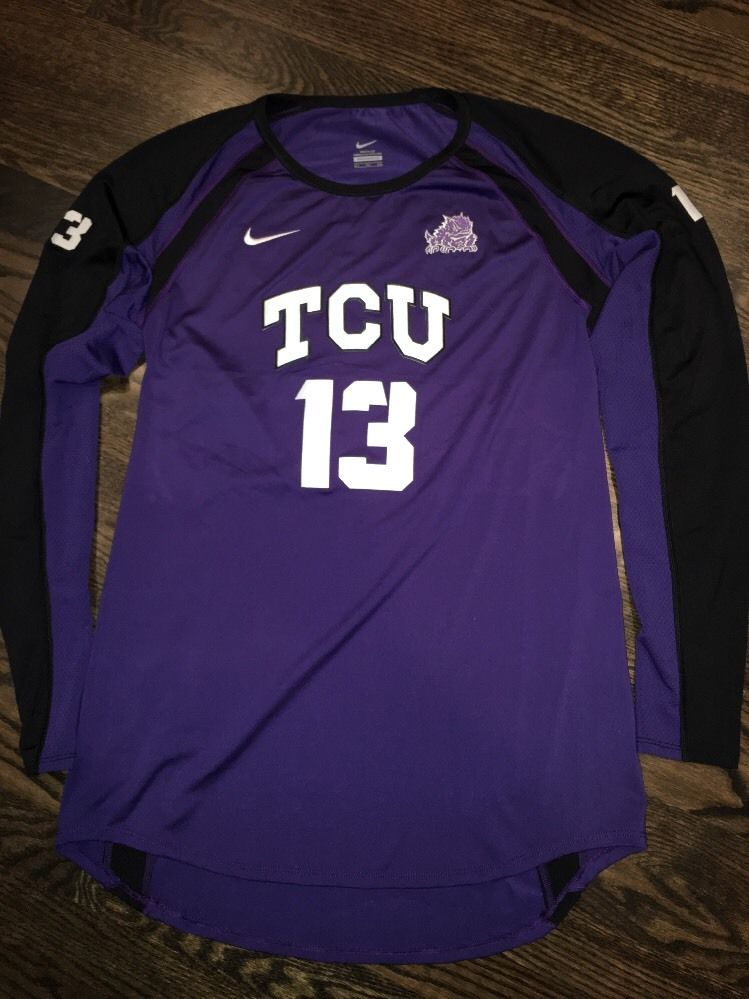 Game Worn TCU Horned Frogs Volleyball Jersey Texas Christian Nike  13 Size  XLT 3ff33fb40