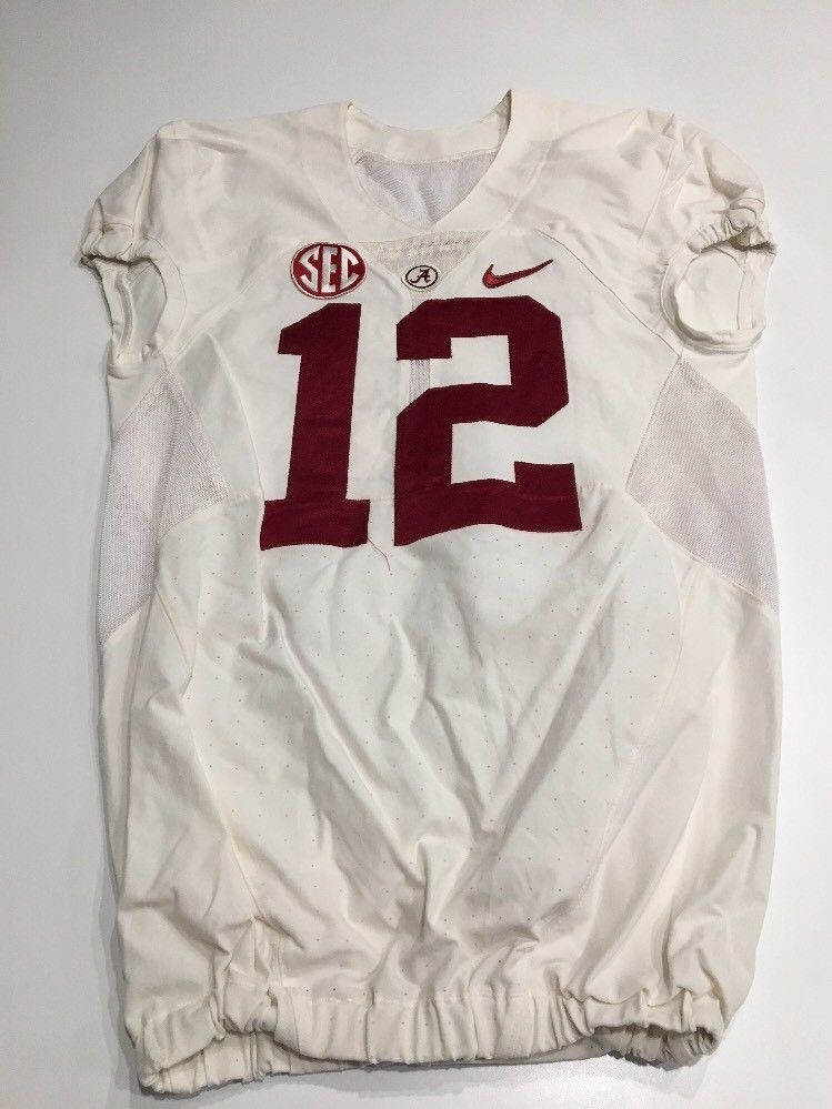 1235b71e5 Game Worn Used 16 Alabama Crimson Tide Bama Football Jersey Nike ...